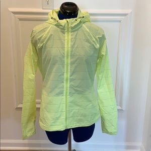Athleta Yellow Light Weight Windbreaker sz M